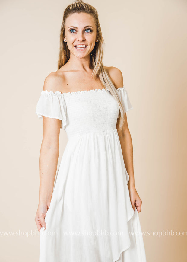 Poppy Fields Off the Shoulder Sun Dress- FINAL SALE