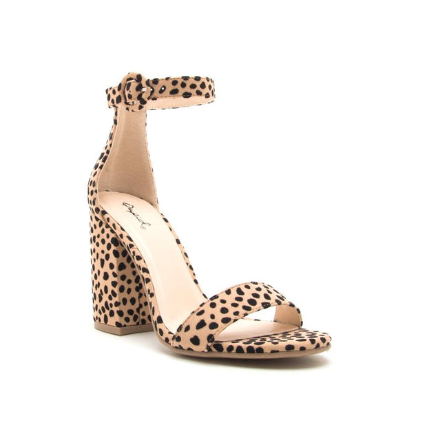 The style of this nude leopard heel is truly amazingly stylish by Qupid.