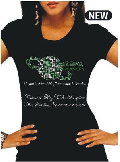 BLING RHINESTONE T-SHIRTS FOR LINK CHAPTERS