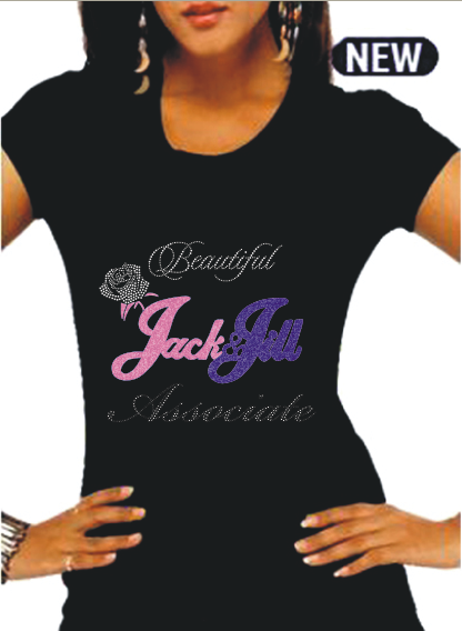 "Beautiful Jack & Jill ""ASSOCIATE JEWEL"" Signature Rhinestone Tee"