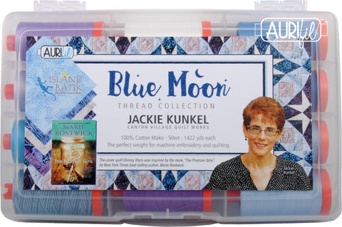 Blue Moon by Jackie Kunkel Aurifil Thread Collection 12 Large Spools 50wt Cotton