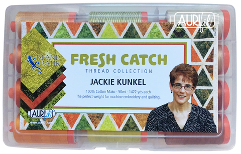 Fresh Catch by Jackie Kunkel Aurifil Thread Collection 12 Large Spools 50wt Cotton