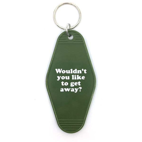 WOULDN'T YOU LIKE TO GET AWAY KEY TAG