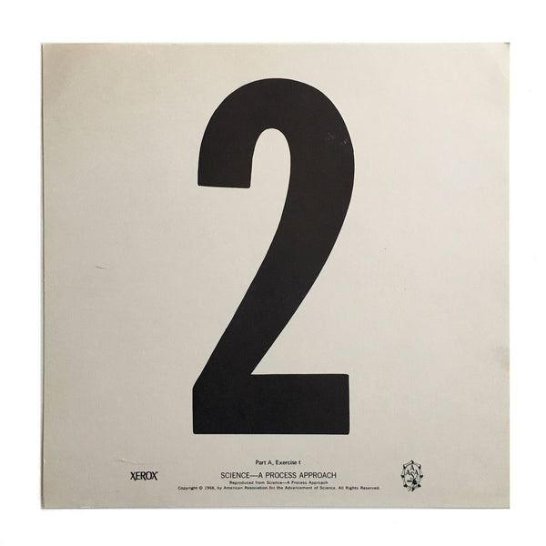 """2"" Number Poster"