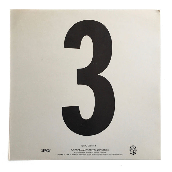 """3"" Number Poster"