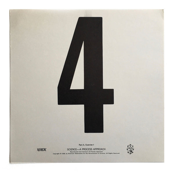 """4"" Number Poster"