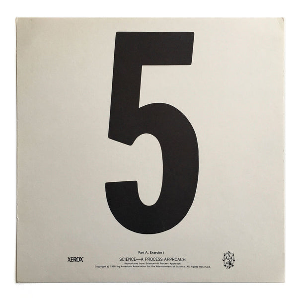 """5"" Number Poster"