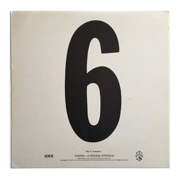 """6"" Number Poster"
