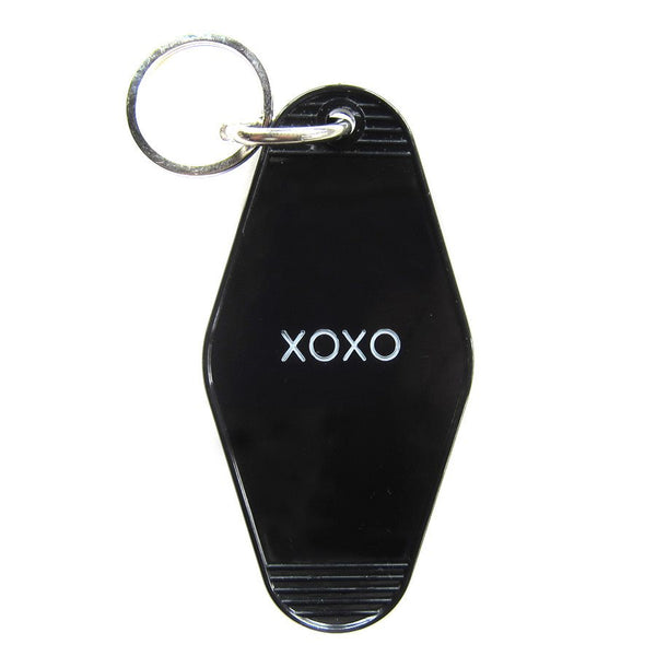 Black key tag for valentines day present