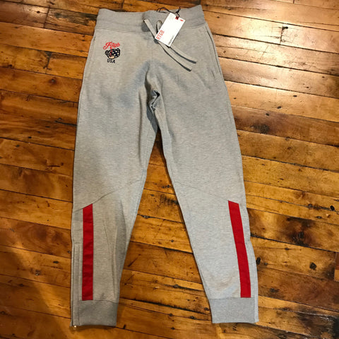 Red Tag Brand USA Teddy Sweatpants Gray