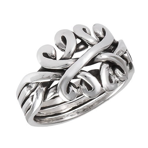 Sterling Silver Celtic Knot Puzzle Band Ring