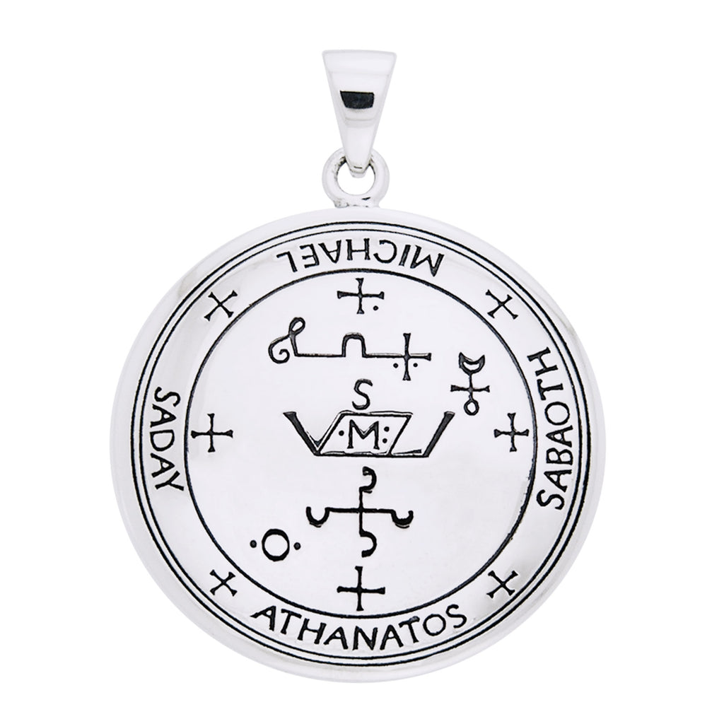 Sigil of the Archangel Michael Talisman Sterling Silver Pendant