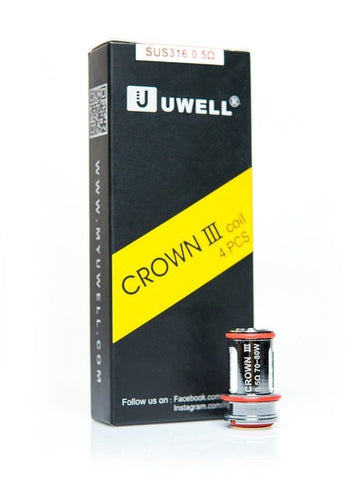 The Uwell Crown 3 SUS316 Parallel 4 Pack Coils 0.25Ohms