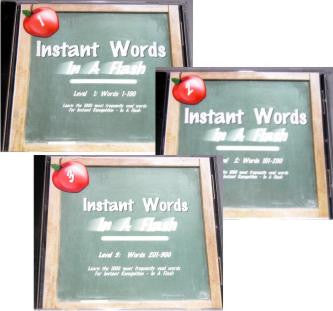 Instant Words In A Flash- Level 1, 2 or 3