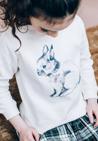 Rabbit Sweatshirt Off-White