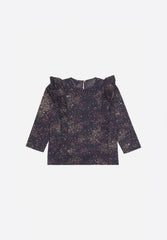 Bette Shirt AOP Sprinkle Black Iris