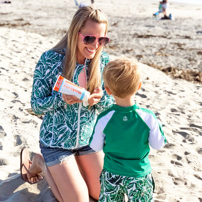 Skin Cancer Awareness Giveaway! SwimZip + Think Baby + The Parentologist