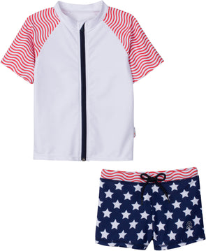 4th of july rash guard set