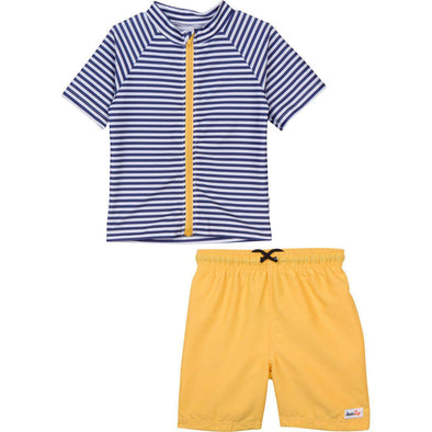 boy rash guard swimwear swim zip stripe