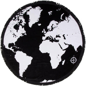 Voyage Around The World SwimZip Round Beach Towel Roundie