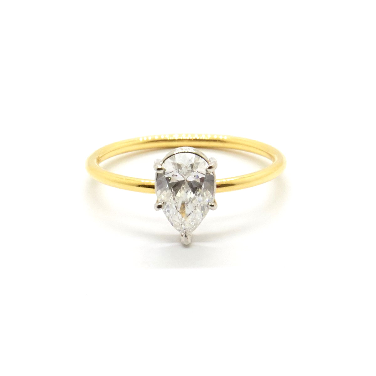 Pear Solitaire | 0.61 carat Diamond