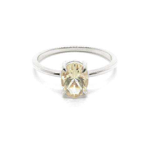 Precious Oval Savannah Sunstone Solitaire