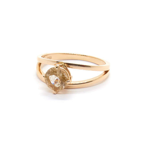 Precious Plane Ring | Rutilated Quartz