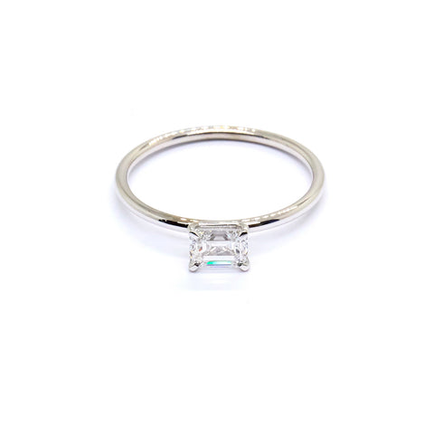 Emerald cut Diamond Solitaire | 0.51ct Diamond