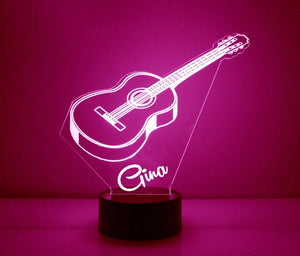 Acoustic Guitar LED Night Light