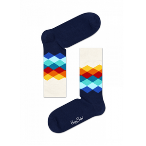 Mens Happy Socks Faded Diamond Sock in Navy - Brother's on the Boulevard