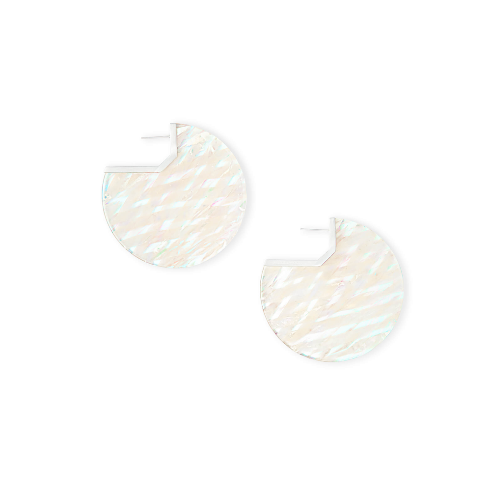 Womens Kendra Scott Kai Gold Hoop Earring in Iridescent Acetate - Brother's on the Boulevard