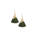 Ever Alice Studio Sonia Tassel Drop Earrings in Hunter Green
