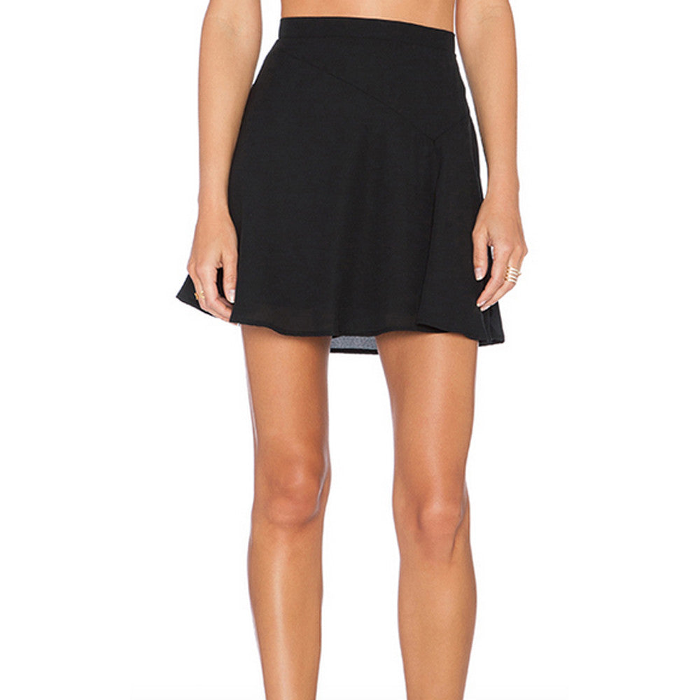 Womens Three Eighty Two Decker Mini Skirt in Black - Brother's on the Boulevard