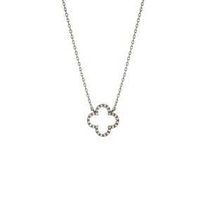 Womens Theia Jewelry Clover Gunmetal Necklace - Brother's on the Boulevard