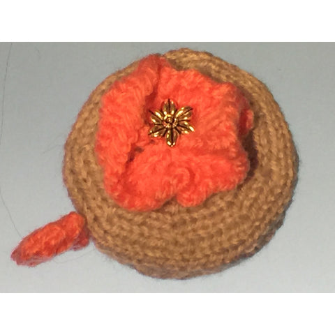 Flower Tape Measure Cover Knitting Pattern - Funky Needles Knitting Boutique