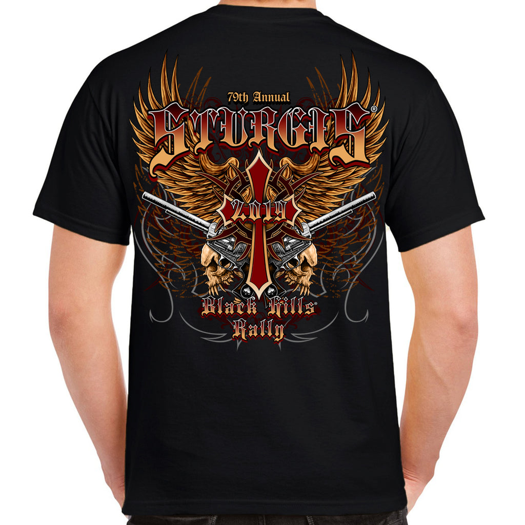 2019 Sturgis Black Hills Rally Big Wings Guns T-Shirt