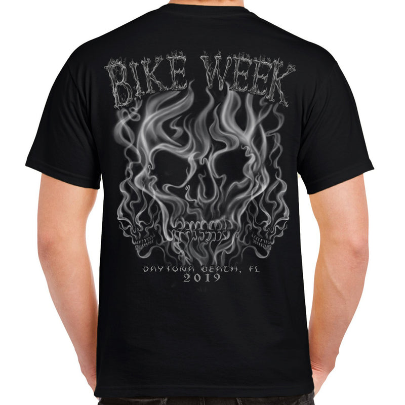 2019 Bike Week Daytona Beach Smoke Skull T-Shirt