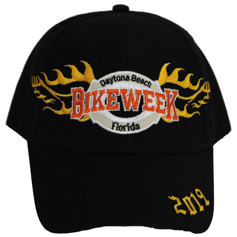 2019 Bike Week Daytona Beach Embroidered Flames Hat