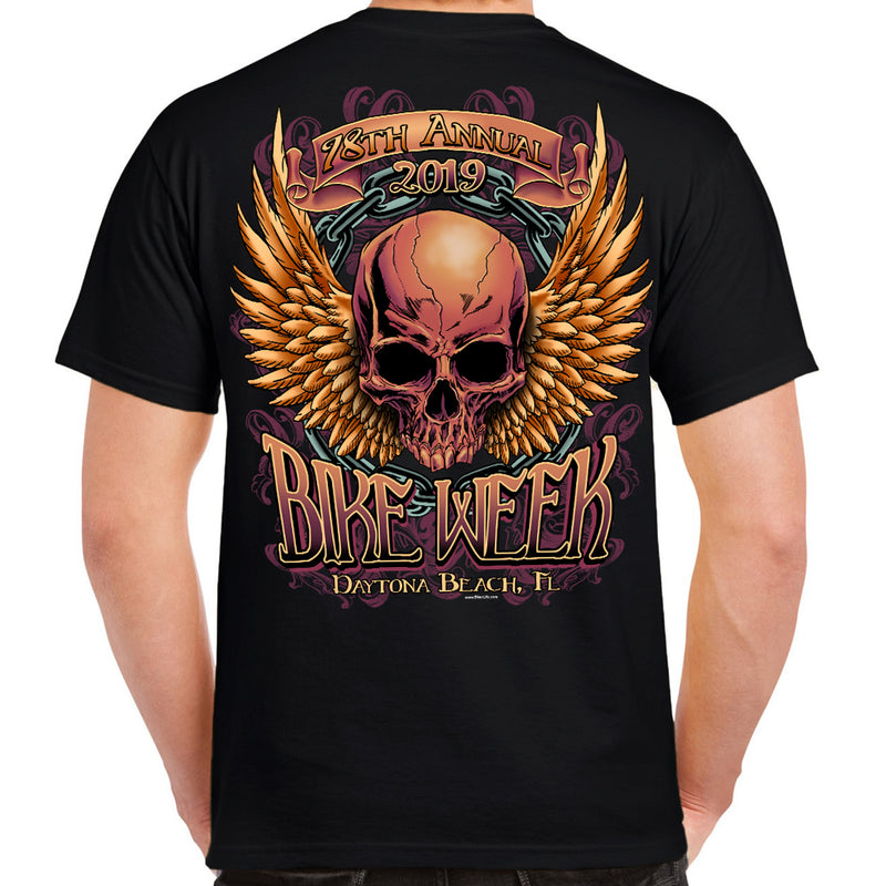 2019 Bike Week Daytona Beach Rockin' Skull T-Shirt