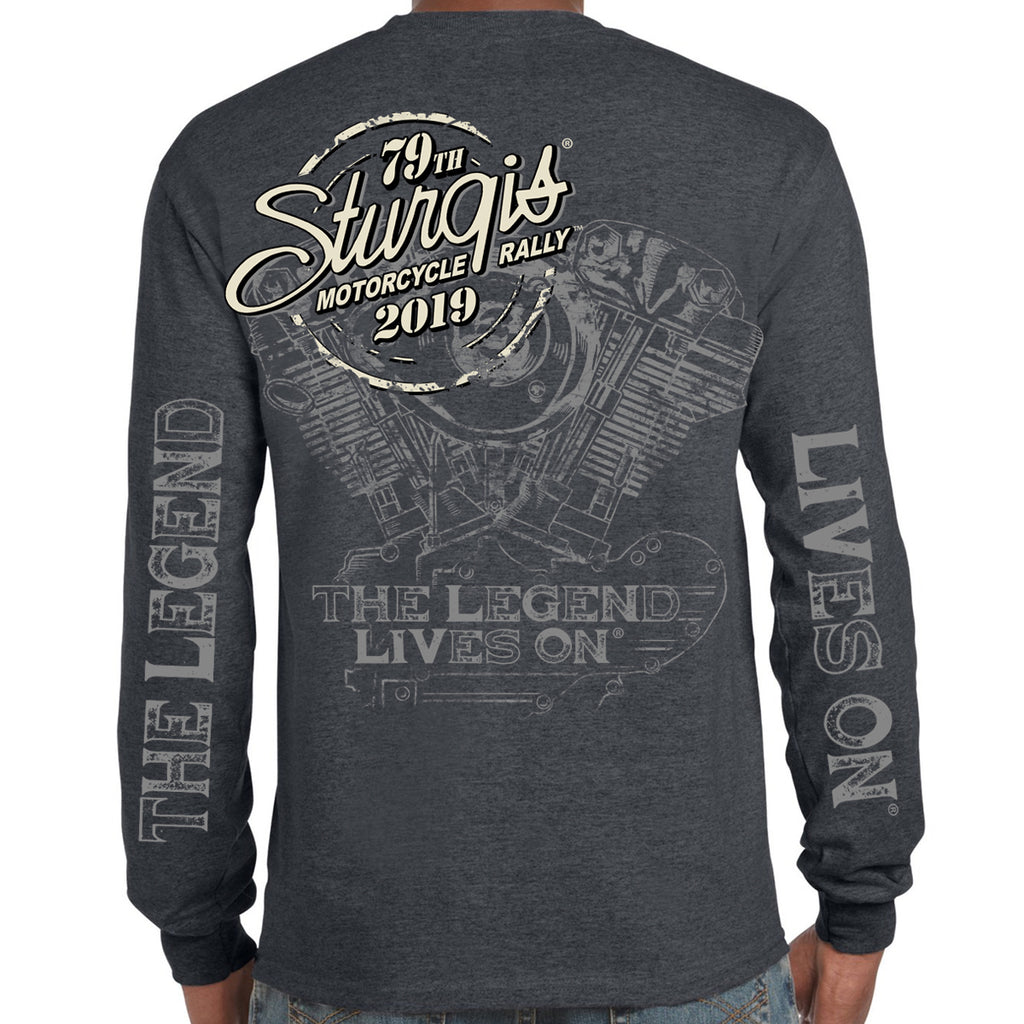 2019 Stugis Black Hills Rally Legend Engine Long Sleeve T-Shirt