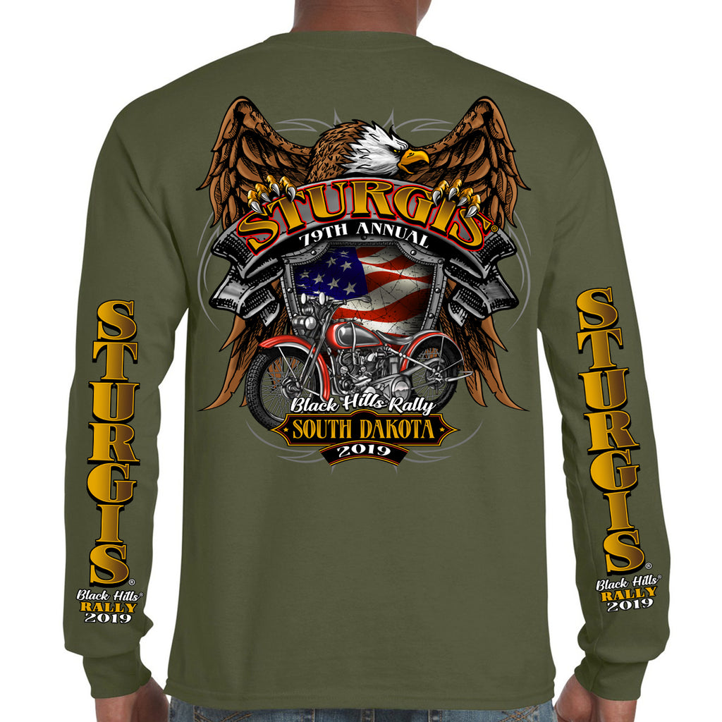 2019 Stugis Black Hills Rally Rebel Rider Long Sleeve Shirt