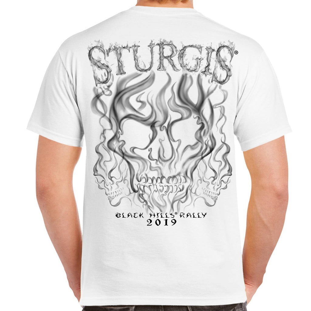 2019 Sturgis Black Hills Rally Smoke Skull T-Shirt