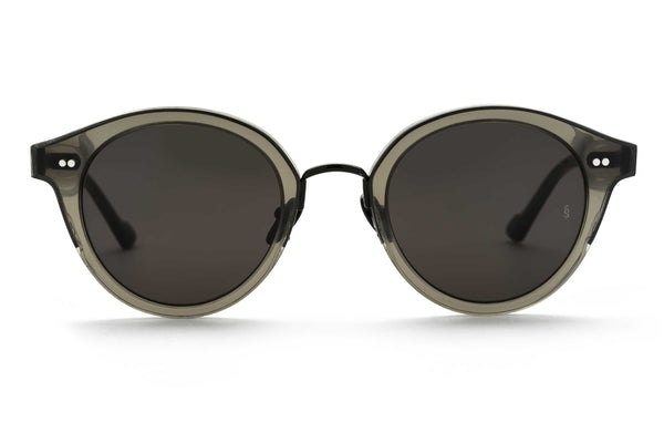 Barbara round sunglasses in grey