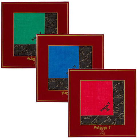 Maxim's de Paris - Cotton Pocket Square - 1111 3pk
