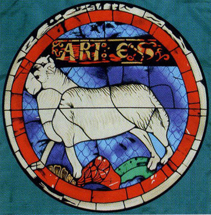 100% Silk Lausanne Cathedral Stained Glass Scarf - Aries