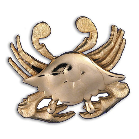 Gold or Silver Plated Zodiac Brooch - Cancer