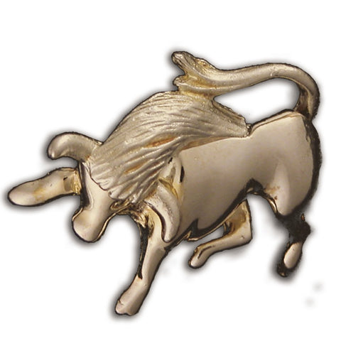 Gold or Silver Plated Zodiac Brooch - Taurus
