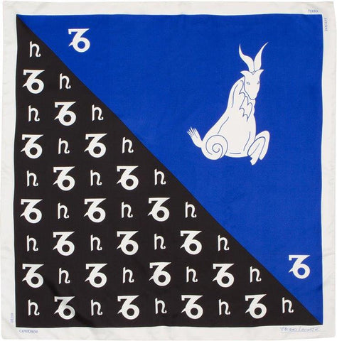 EXCLUSIVE - Custom Silk Scarves of the Zodiac, Capricorn