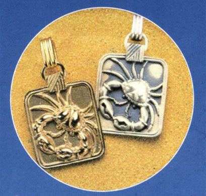 Gold or Silver Plated Zodiac Pendant - Cancer