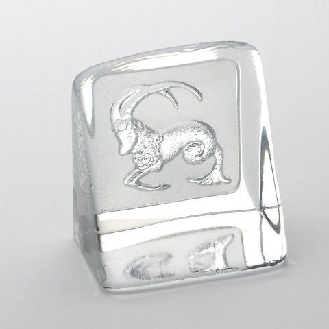 Swedish Crystal Zodiac Paperweight - Capricorn